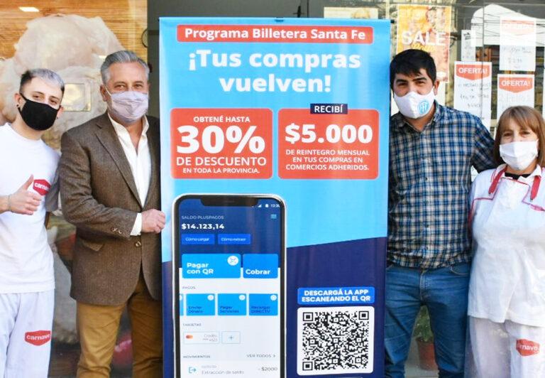 En modo campaña, Lewandowski y Matías Fernández destacan la Billetera Santa Fe