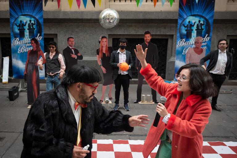 """""""Bailando por una banca"""": intervención de Ciudad Futura para criticar a famosos en la política"""